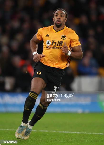Adama Traore of Wolverhampton Wanderers during the Premier League match between Wolverhampton Wanderers and Newcastle United at Molineux on January...