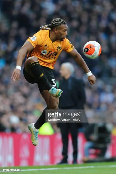 Adama Traore of Wolverhampton Wanderers during the Premier League match between Tottenham Hotspur and Wolverhampton Wanderers at Tottenham Hotspur...
