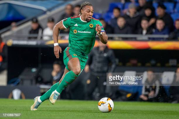February 27: Adama Traore of Wolverhampton Wanderers in action during the Espanyol V Wolverhampton Wanderers, UEFA Europa League, round of 32, second...