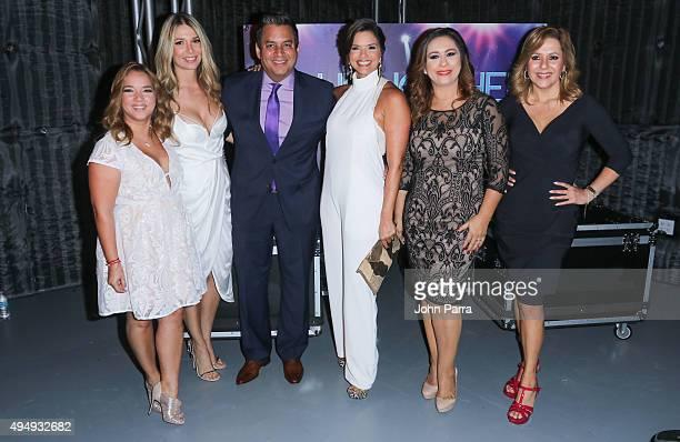 Adamari Lopez Alessandra Villegas Daniel Sarcos Rashel Diaz Neida Sandoval and Ana Maria Canseco attend Telemundo 'Que Noche With Angelica And Raul'...