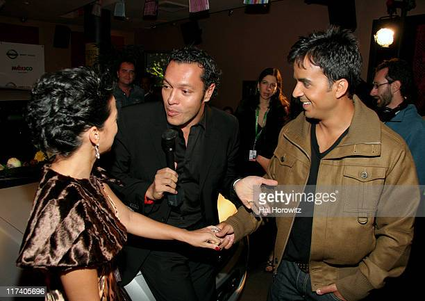 Adamari Lopez Carlos Anaya and Luis Fonsi during Voces del mas Alla November 2 2006 at AER Lounge in New York City New York United States
