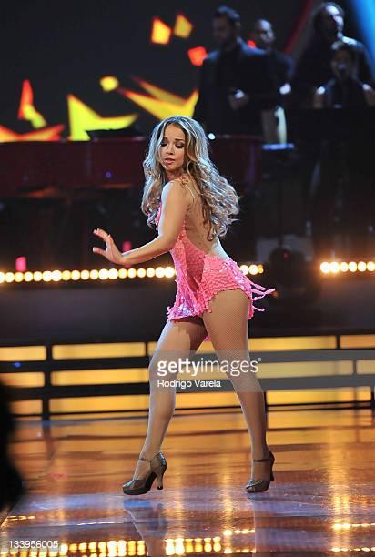 Adamari Lopez dances at Univision's Mira Quien Baila Finale on November 20 2011 in Miami Florida