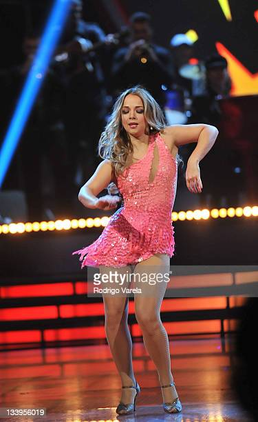 Adamari Lopez dances at Univision's Mira Quien Baila Finale on November 20 2011 in Miami Florida