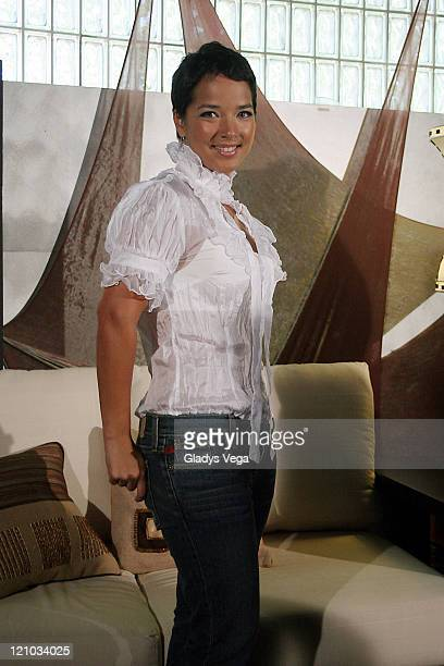 Adamari Lopez during Adamari Lopez attends Press Conference in Puerto Rico May 10 2006 in San Juan Puerto Rico Puerto Rico