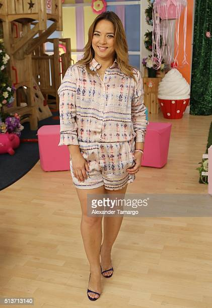 Adamari Lopez is seen on the set of 'Un Nuevo Dia' during the celebration of her daughter Alaia's first birthday at KUBO Play and Party on March 4...