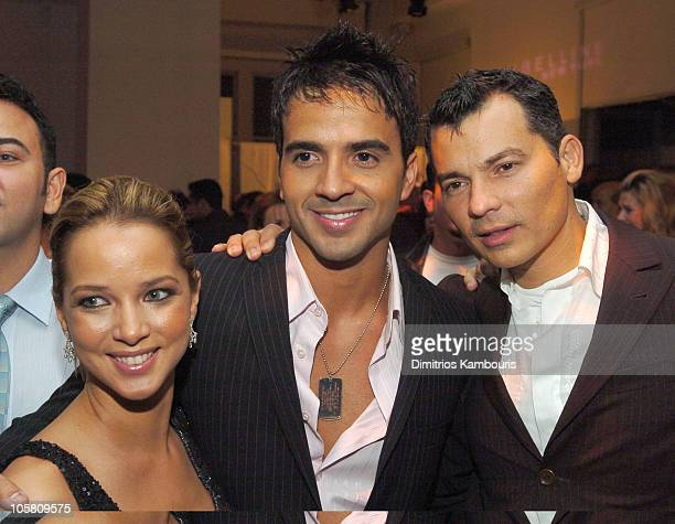 Adamari Lopez Luis Fonsi and Gustavo Arango during 3rd Annual People En Espanol's '50 Most Beautiful' Gala at Splashlight Studios in New York City...