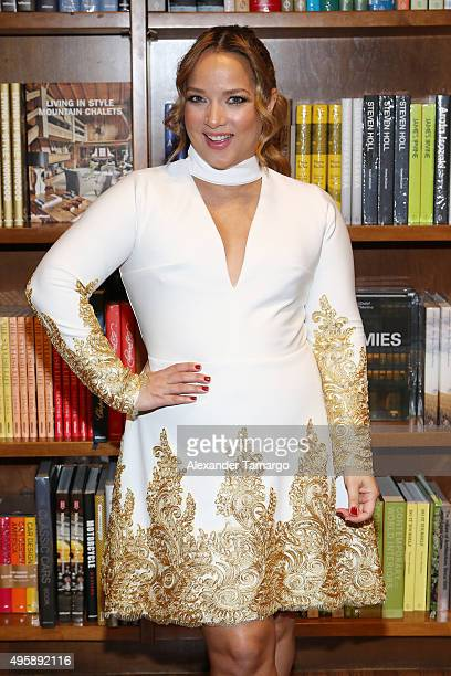 Adamari Lopez makes an appearance at Books and Books to promote her new book 'Amando' on November 5 2015 in Coral Gables Florida
