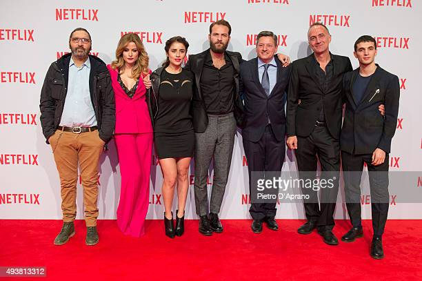 Adamo Dionisi Giulia Elettra Gorietti Greta Scarano Alessandro Borghi Ted Sarandos Stefano Sollima and Giacomo Ferrara attend the red carpet for the...