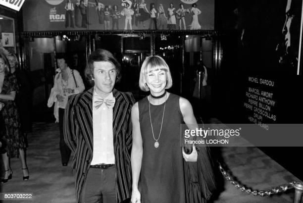 Adamo et son épouse Nicole à l'Olympia le 7 septembre 1976 à Paris France