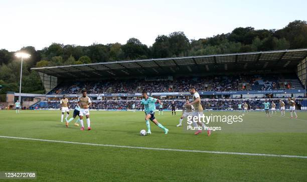 Adams Park during The Pre-Season Friendly between Wycombe Wanderers and Leicester City at Adams Park on July 28, 2021 in High Wycombe, England.