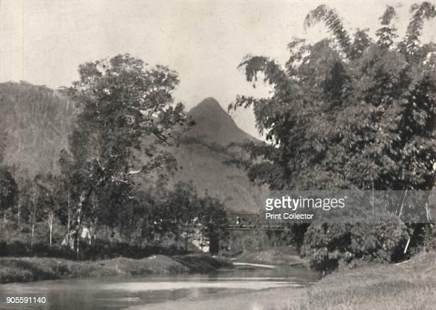 'Adamspik von Gegend Maskeliya' 1926 A scene near Adam's Peak Sri Lanka From Der Indische Kulturkreis in Einzeldarstellungen [Georg Muller Munich...