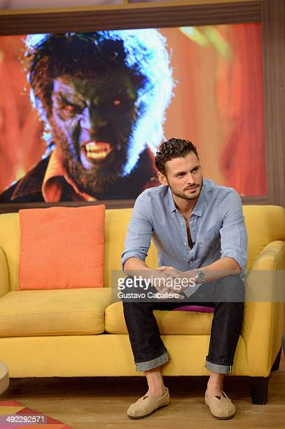 Adan Canto on the set of Despiereta America at Univision Headquarters on May 19 2014 in Miami Florida