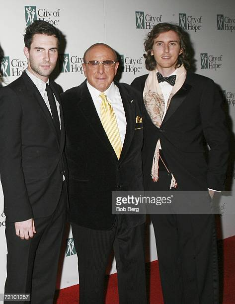Adanem Levine Clive Davis and James Valenti arrive at the City Of Hope Dinner Honoring Charles Goldstuck October 5 2006 at the Pacific Design Center...