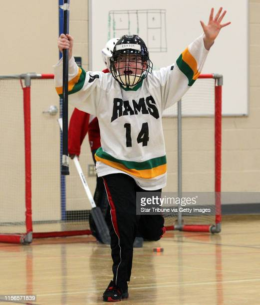 Adapted Floor Hockey game Cognitively Impaired Division North Varsity Playoffs Mounds View/Irondale/Rosedale vs St Paul Highland Park MVIR's Chris...