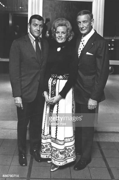 MAR 11 1972 MAR 17 1972 'Adaption' and 'Next' Open at Bonfils Theatre Mr and Mrs Seynour Laff left pause with Jess Kortz prior to opening curtain at...