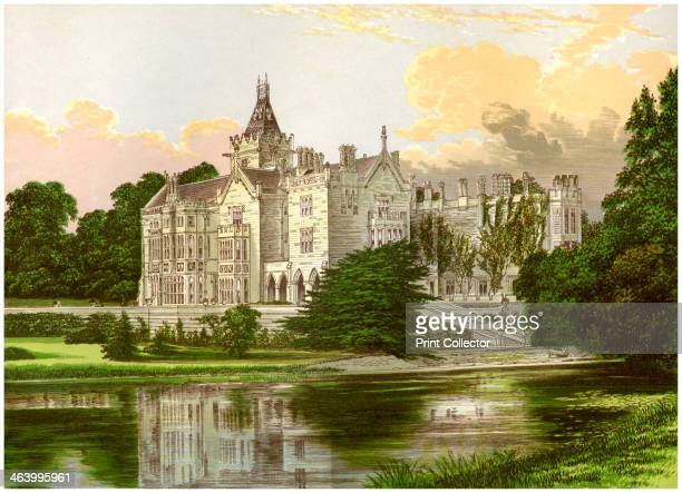 Adare Manor County Limerick Ireland home of the Earl of Dunraven c1880 A print from A Series of Picturesque Views of Seats of the Noblemen and...