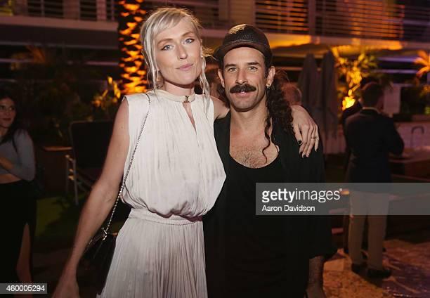 Adarsha Benjamin and Ryan Heffington attend Sara Von Kienegger and Art of Elysium Host Los Angeles Gallery MAMA's Presentation Of Ryan Heffington's...