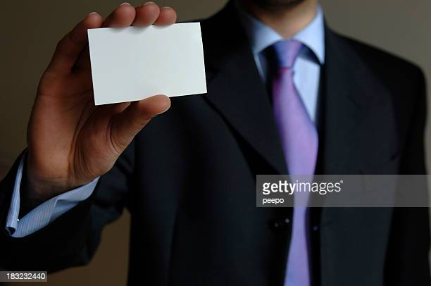 add text to blank business card