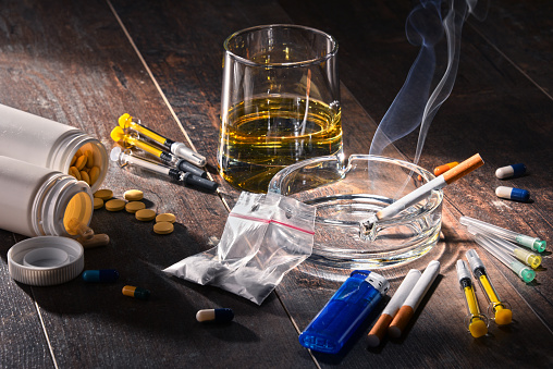 Addictive substances, including alcohol, cigarettes and drugs 842445008