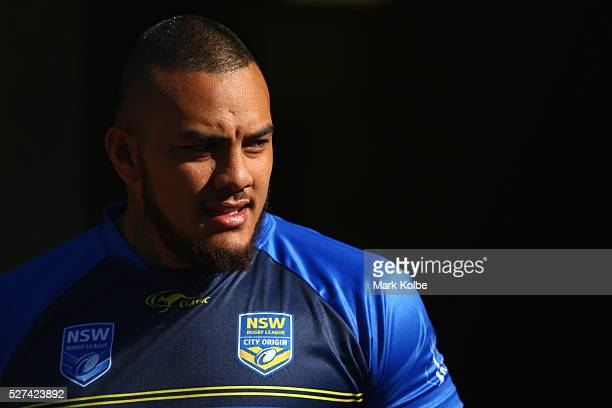 Addin FonuaBlake looks on during a City NSW Origin training session at Leichhardt Oval on May 3 2016 in Sydney Australia