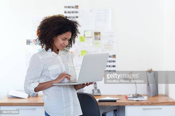 Adding her designs to the company's website