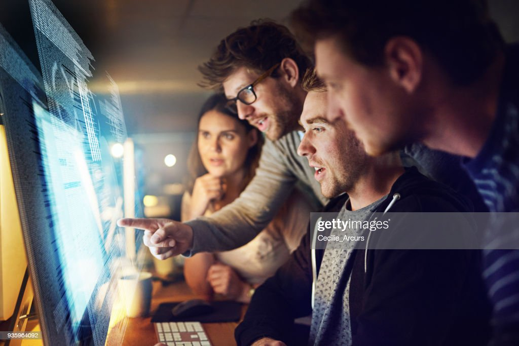 Adding modifications to their latest code : Stock Photo