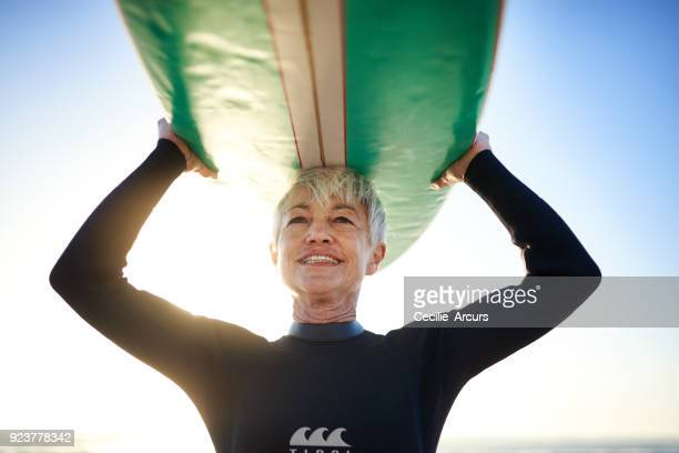 Adding vitality to her life by surfing