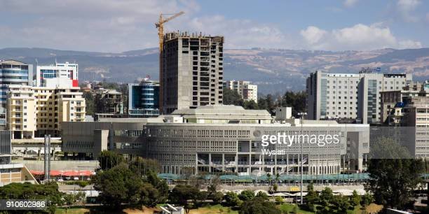addis ababa cityscape - addis ababa stock pictures, royalty-free photos & images