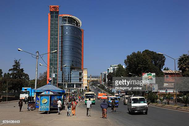 Addis Ababa highrise building in the city center