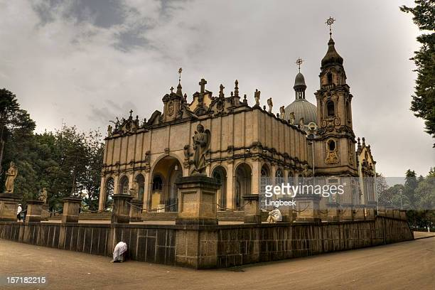 addis ababa holy trinity church - ethiopia stock photos and pictures