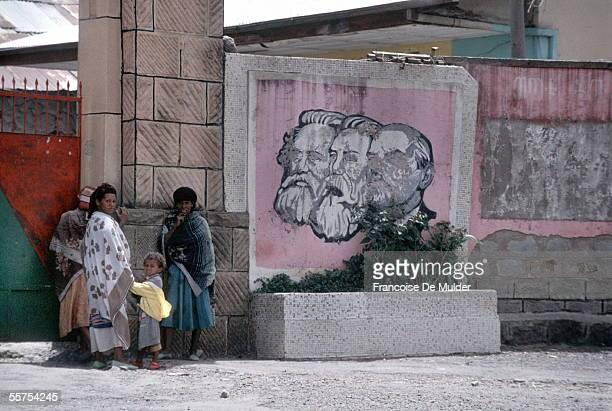 Addis Ababa Marx's portrait Engels and Lenin On 1991 FDM2542