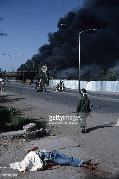Addis Ababa One died in the explosion of an ammunition dump May 1991 FDM25815