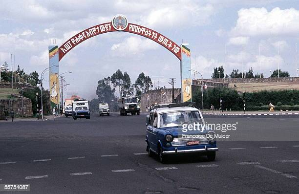Addis Ababa Taxi on the great place of the Revolution On 1990 FDM20314