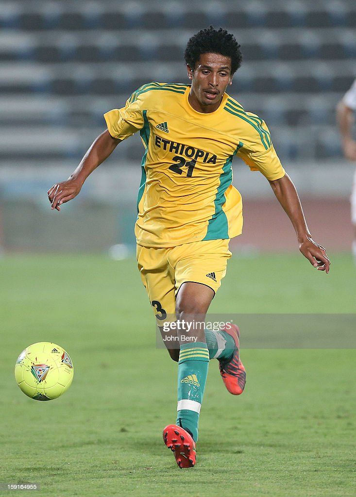 Addis Hintsa of Ethiopia in action during the international friendly game between Tunisia and Ethiopia at the Al Wakrah Stadium on January 7, 2013 in Doha, Qatar.