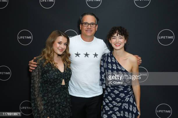 Addison Holley Jeffrey Hunt and Nicolette Pearse attend the Lifetime Original Movie 'Trapped The Alex Cooper Story' premiere at The London West...