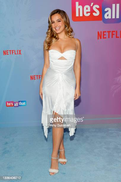 """Addison Rae attends Netflix's premiere of """"He's All That"""" at NeueHouse Los Angeles on August 25, 2021 in Hollywood, California."""