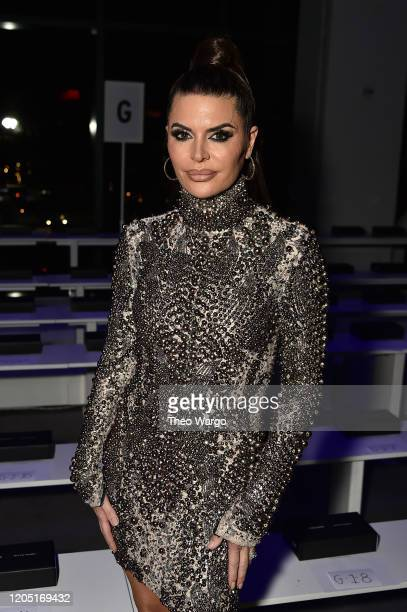 Addison Rae attends The Blonds front row during New York Fashion Week The Show at Gallery I at Spring Studios on February 09 2020 in New York City
