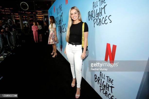 Addison Rae attends the Netflix Premiere of All the Bright Places on February 24 2020 in Hollywood California