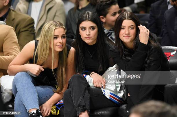 Addison Rae Dixie D'Amelio and Charli D'Amelio attend 2020 State Farm AllStar Saturday Night at United Center on February 15 2020 in Chicago Illinois