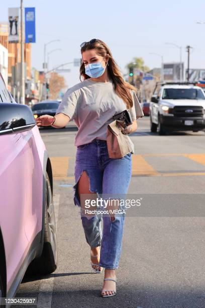 Addison Rae is seen on January 4, 2021 in Los Angeles, California. (Photo by Rachpoot/MEGA/GC Images