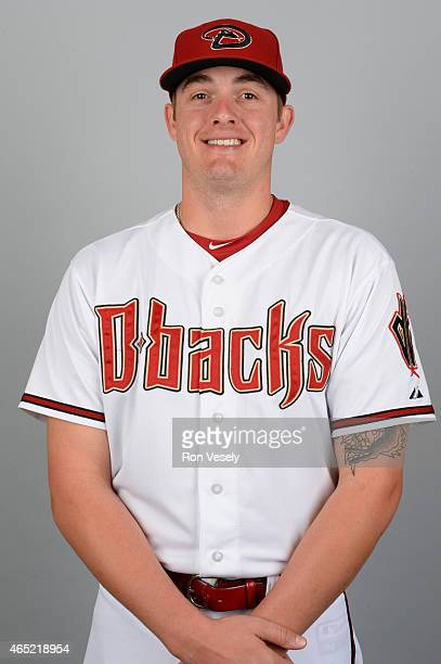 Addison Reed of the Arizona Diamondbacks poses during Photo Day on Sunday March 1 2015 at Salt River Fields at Talking Stick in Scottsdale Arizona