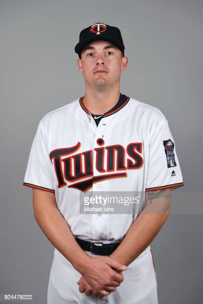 Addison Reed of the Minnesota Twins poses during Photo Day on Wednesday February 21 2018 at CenturyLink Sports Complex in Fort Myers Florida