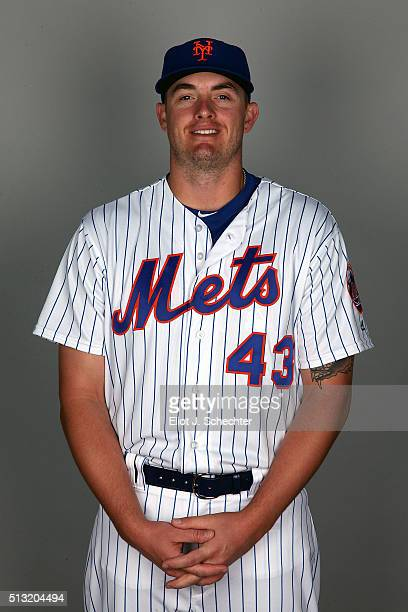 Addison Reed of the New York Mets poses during Photo Day on Tuesday March 1 2016 at Tradition Field in Port St Lucie Florida