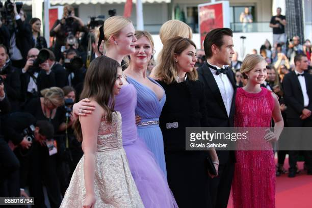 Addison Riecke Angourie Rice Collin Farrel Sofia Coppola Nicole Kidman and Elle Fanning attend the 'The Beguiled' screening during the 70th annual...
