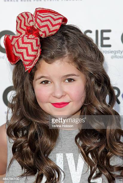 Addison Riecke attends Grace Rose Bauer children's fashion show supporting Cystic Fibrosis research at CBS studios on August 15 2015 in Studio City...