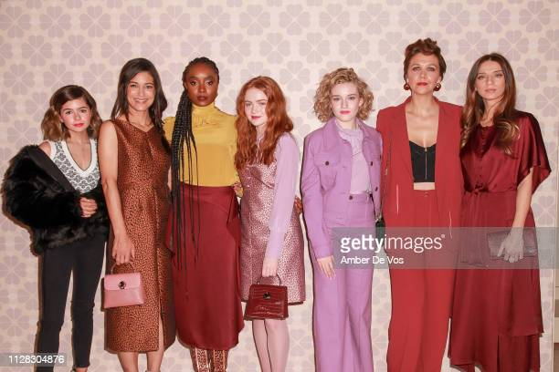Addison Riecke Julia Jones Kiki Layne Sadie Sink Julia Garner Maggie Gyllenhaal and Angela Sarafyan attend Kate Spade FW19 Fashion Show at Cipriani...