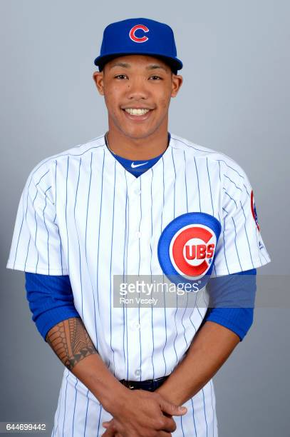 Addison Russell of the Chicago Cubs poses during Photo Day on Tuesday February 21 2017 at Sloan Park in Mesa Arizona