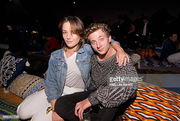 Addison Timlin and Jeremy Allen White attend Cinespia's screening of 'True Romance' held at Hollywood Forever on September 4 2016 in Hollywood...
