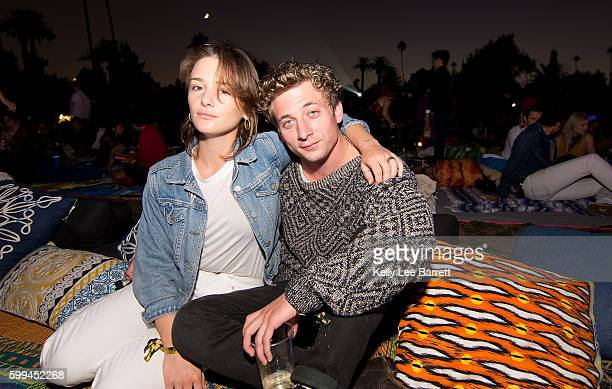 Addison Timlin and Jeremy Allen White attend Cinespia's screening of True Romance held at Hollywood Forever on September 4 2016 in Hollywood...