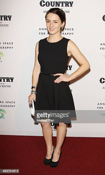 Addison Timlin arrives at the exhibit opening of 'Country Portraits Of An American Sound' held at Annenberg Space For Photography on May 22 2014 in...